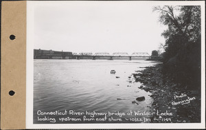 Connecticut River highway bridge at Windsor Locks, looking upstream from east shore, Connecticut River, Conn., Oct. 22, 1929