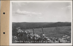 Dam site looking southeast from surveying station #2, Blue Meadow Road, Quabbin Reservoir, Mass., Sep. 11, 1929