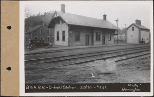 Boston & Albany Railroad, Enfield Station, and water tower, Enfield, Mass., Mar. 5, 1930