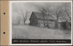 Adam Waurecuik, barn, Prescott, Mass., Apr. 25, 1930