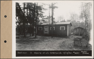 Addison D. Moore and wife, cottage, etc., Greenwich Lake, Greenwich, Mass., May 13, 1930