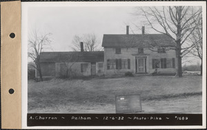 A. Charron, house, Pelham, Mass., Dec. 6, 1932