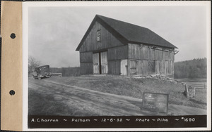 A. Charron, barn, Pelham, Mass., Dec. 6, 1932