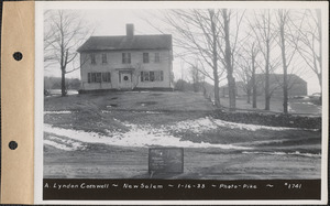 A. Lyndon Cornwell, house and barn, New Salem, Mass., Jan. 16, 1933