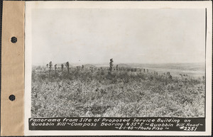 Panorama from site of proposed service building on Quabbin Hill, compass bearing N55°E, Quabbin Hill Road, Quabbin Reservoir, Mass., June 1, 1940