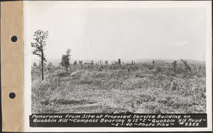 Panorama from site of proposed service building on Quabbin Hill, compass bearing N15°E, Quabbin Hill Road, Quabbin Reservoir, Mass., June 1, 1940