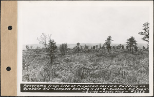 Panorama from site of proposed service building on Quabbin Hill, compass bearing N25°W, Quabbin Hill Road, Quabbin Reservoir, Mass., June 1, 1940