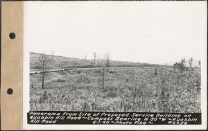 Panorama from site of proposed service building on Quabbin Hill, compass bearing N80°W, Quabbin Hill Road, Quabbin Reservoir, Mass., June 1, 1940