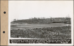 Panorama from site of proposed service building on Quabbin Hill, compass bearing S45°W, Quabbin Hill Road, Quabbin Reservoir, Mass., June 1, 1940