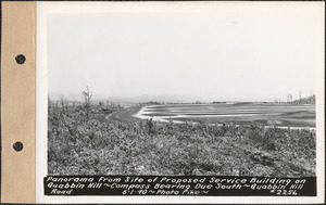 Panorama from site of proposed service building on Quabbin Hill, compass bearing due south, Quabbin Hill Road, Quabbin Reservoir, Mass., June 1, 1940