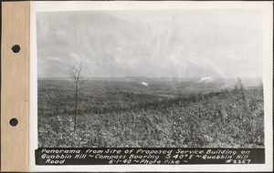 Panorama from site of proposed service building on Quabbin Hill, compass bearing S40°E, Quabbin Hill Road, Quabbin Reservoir, Mass., June 1, 1940