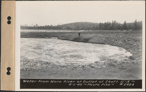 Water from Ware River at outlet of shaft 11A, Enfield, Mass., Apr. 1, 1940