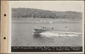 26-foot Richardson Utility Boat #2 on Quabbin Reservoir, Mass., June 17, 1940