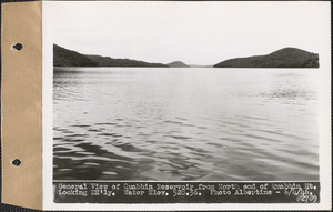General view of Quabbin Reservoir from north end of Quabbin Mountain, looking northeasterly, water elevation 528.36, Quabbin Reservoir, Mass., June 4, 1946