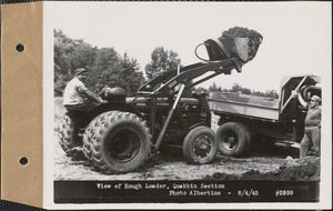 View of Hough loader, Quabbin Section, Quabbin Reservoir, Mass., Aug. 4, 1948