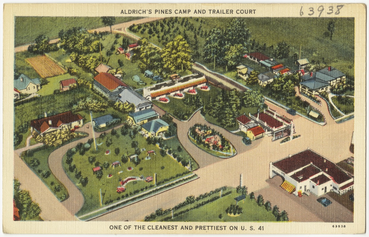 Aldrich's Pines Camp and trailer court, one of the cleanest and prettiest on U.S. 41