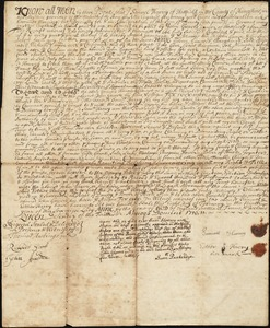 Deed, loose, Samuel Harvey to John Graves, 12 February 1710