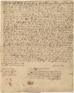 Deed, Ebenezer Billing of Sunderland to Samuel Billing, 1723