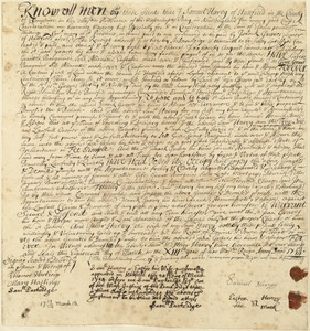 Deed, Samuel Harvey to Isaack Graves Sr., 1713/14