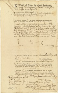 Deed, Moses Graves to Samuel Partridge, 1766
