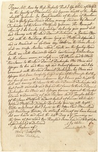 Deed, Asa White to Daniel Dickinson, 1781
