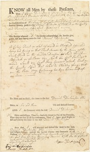 Deed, Roger Dickinson to Daniel Dickinson, May 1, 1775