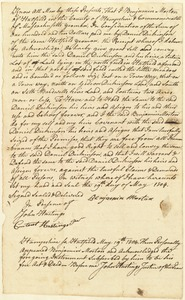 Deed, Benjamin Morton to Daniel Dickinson, 1804