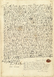 Deed, Edward Church to his son, Richard Church, Hatfield, Jan. 3, 1703