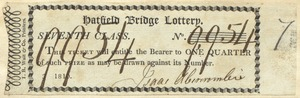 Hatfield Bridge Lottery ticket No. 9954