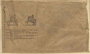 Envelope face with racist Confederate rhyming verse, mfd. by W&J Bonitz, Goldsboro, NC, [estimated 1861]