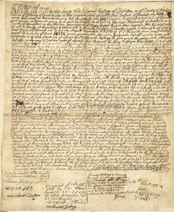 Deed, from Samuel Kellogg and wife Hannah, Colchester, Conn., to Ebenezer Bardwell, Hatfield, March 14, 1707