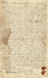 Deed, Sam Gillis and wife Hannah to Richard Church, 20 May 1700