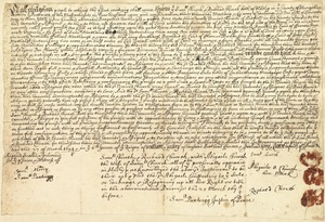 Deed, Samuel and Richard Church, Hadley, to Edward Church, Hatfield, 27 March, 1694