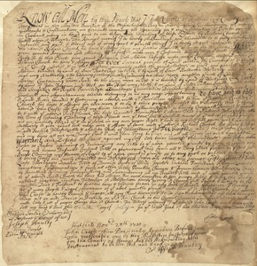 Deed, John Crafts, Hatfield, to Richard Church, 10 July 1709
