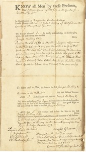 Deed, Moses Graves, Pittsfield, to Joseph Billing, Hatfield, for land in Hatfield, 11 January 1771