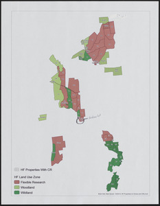 Harvard Forest Properties Land Use Zones and CRs