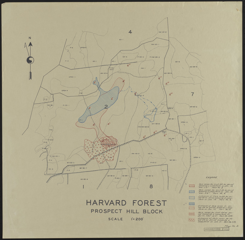 Harvard Forest Prospect Hill Block Hare Range Maps