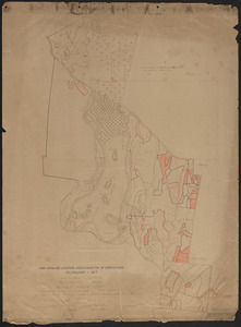 Meadow-Water Tract map showing location and character of operations to 1917