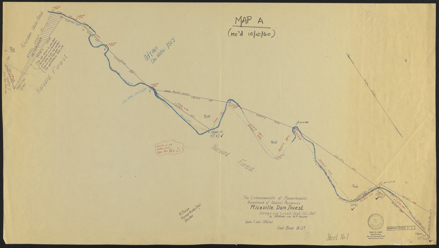 Survey of Riceville Dam and North Boundary of TS IX