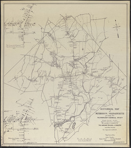 Historical Map of Petersham, MA