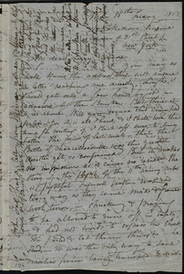 Letter from Maria Weston Chapman, 119 Madison Avenue, (corner of 31st Street), New York, [NY], to Anne Greene Chapman Dicey and Elizabeth Bates Chapman Laugel, May 15th, Friday, 1863