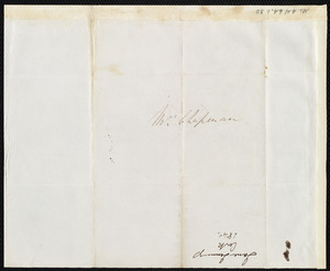 Letter from Jane Jennings, [Cork, Ireland?], to Maria Weston Chapman, [1842 Nov. 10]