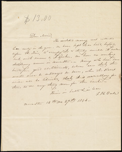 Letter from Sarah Hussey Earle, Worcester, [Mass.], to Maria Weston Chapman, 12th mo[nth] 27th [day] 1842