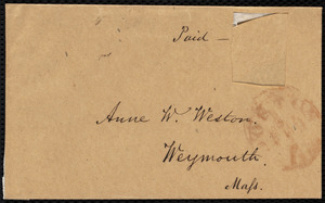 Letter from Samuel May, Boston, [Mass.], to Anne Warren Weston, February 4, 1849