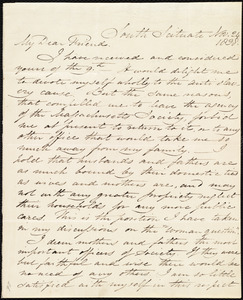 Letter from Samuel Joseph May, South Scituate, [Mass.], to Maria Weston Chapman, Nov. 24, 1838