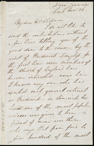 Letter from Jane Jennings, Cork, [Ireland], to Maria Weston Chapman, Nov. 26, [1846?]