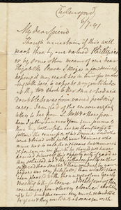 Letter from Anne Knight, Chelmsford, [England], to Maria Weston Chapman, 6/7 [18]41