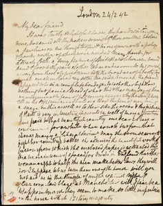 Letter from Anne Knight, London, [England], to Maria Weston Chapman, 24/2 [18]42