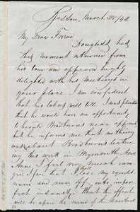Letter from John Anderson Collins, Boston, [Mass.], to Anne Warren Weston, March 28/[18]42