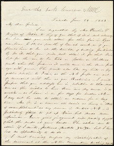 Letter from Abby Kelley Foster, Leicester, [NY], to Maria Weston Chapman, June 28, 1843